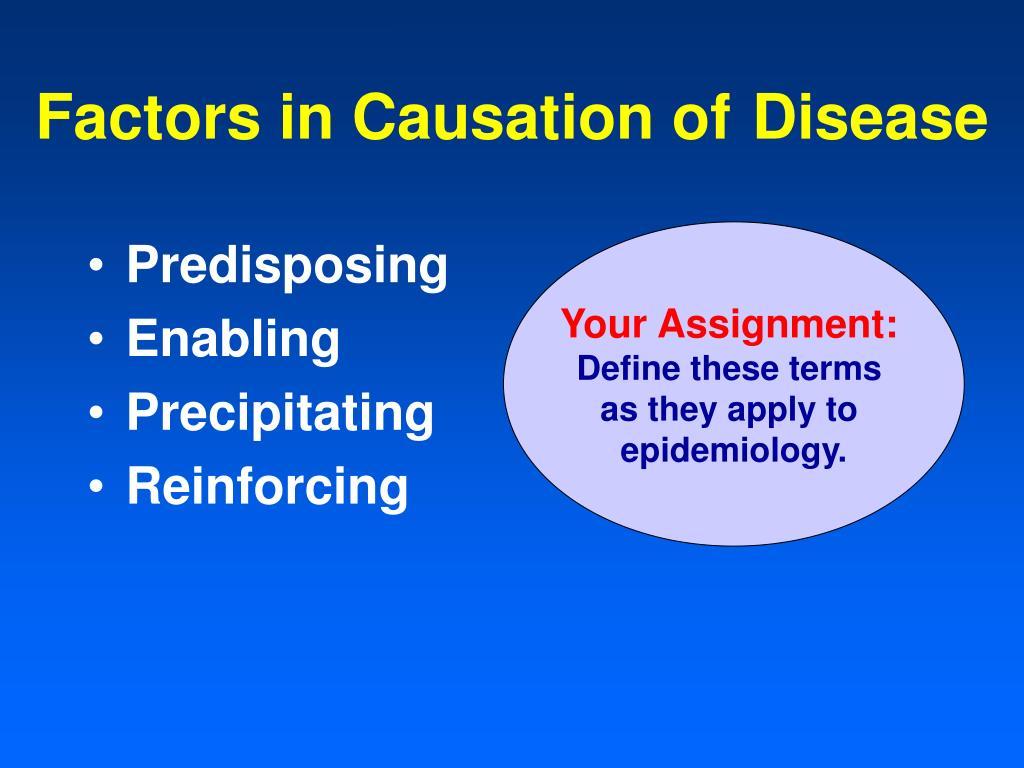 Factors in Causation of Disease