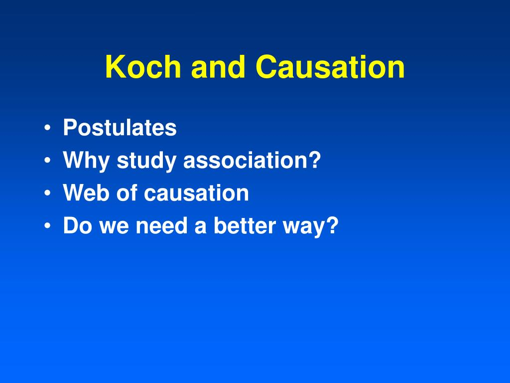Koch and Causation