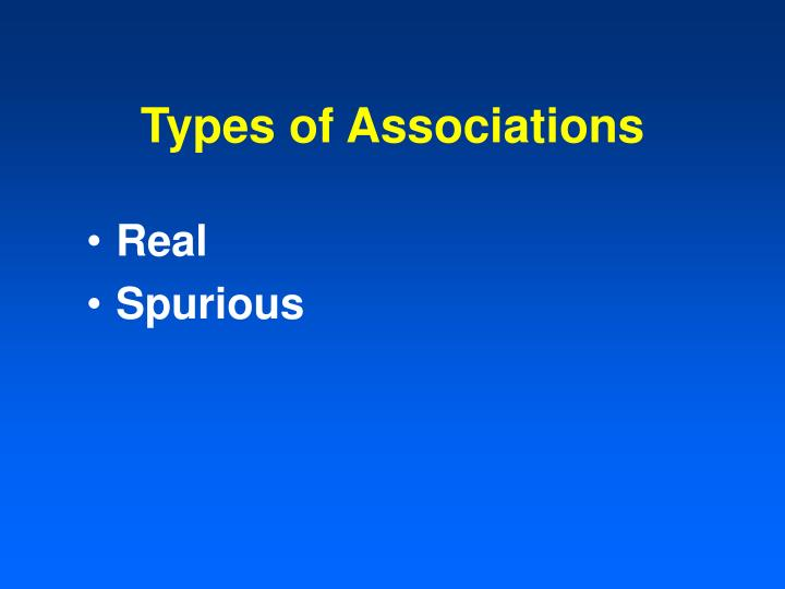 Types of associations