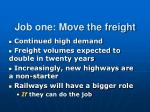 job one move the freight