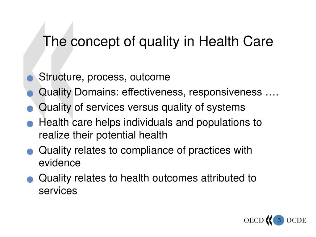 The concept of quality in Health Care