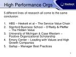 high performance orgs