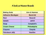 a look at master brands