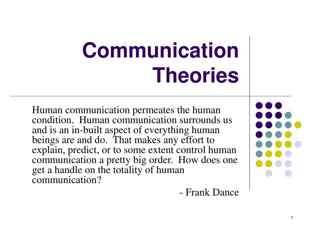 communication theories l.