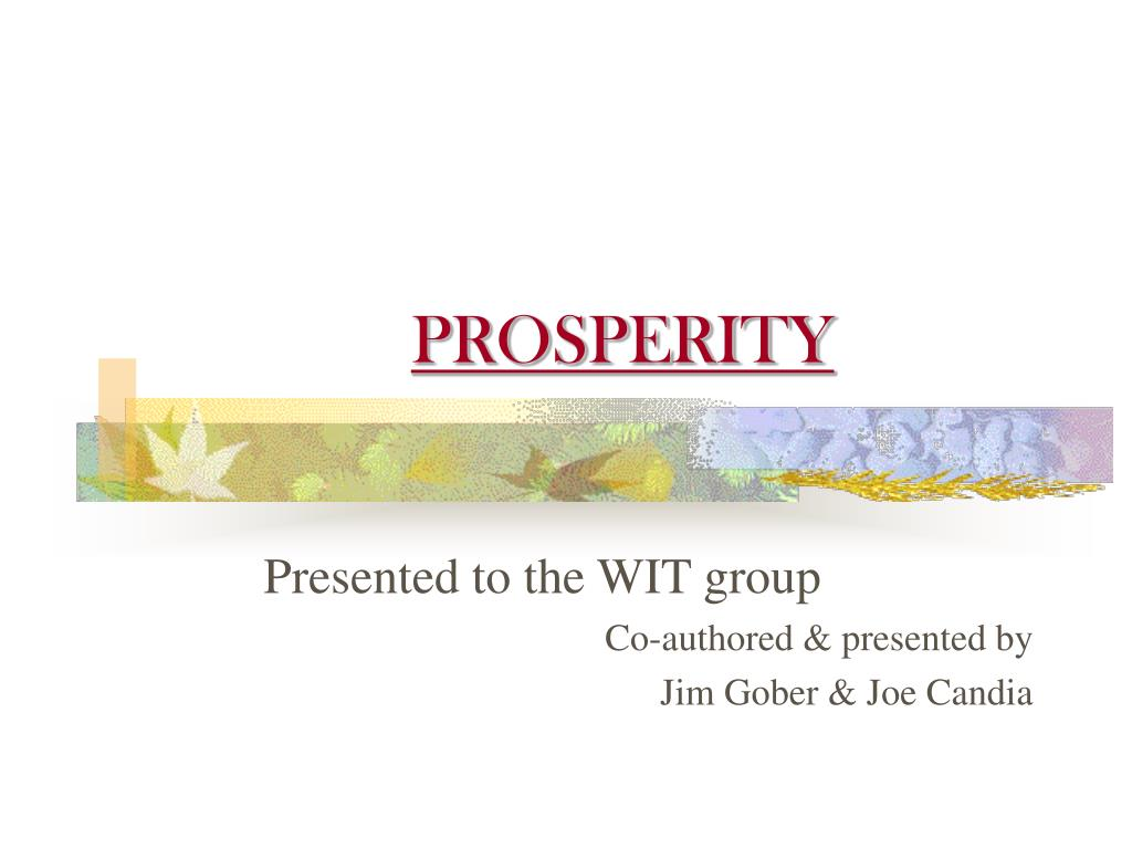 prosperity l.