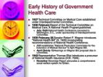 early history of government health care10