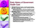 early history of government health care13