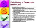 early history of government health care15