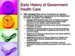 early history of government health care16