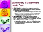 early history of government health care17