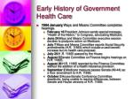 early history of government health care18