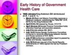 early history of government health care19