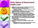 early history of government health care7