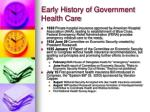 early history of government health care9