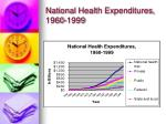 national health expenditures 1960 1999