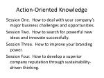 action oriented knowledge43