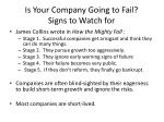 is your company going to fail signs to watch for