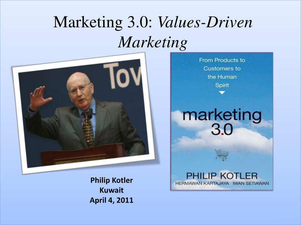 marketing 3 0 values driven marketing l.