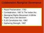 collaborative aboriginal governance