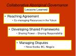 collaborative aboriginal governance13