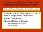 collaborative aboriginal governance8