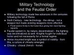 military technology and the feudal order