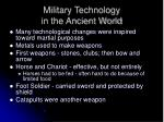 military technology in the ancient world