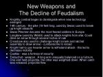 new weapons and the decline of feudalism