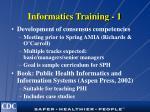 informatics training 1