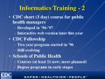 informatics training 2
