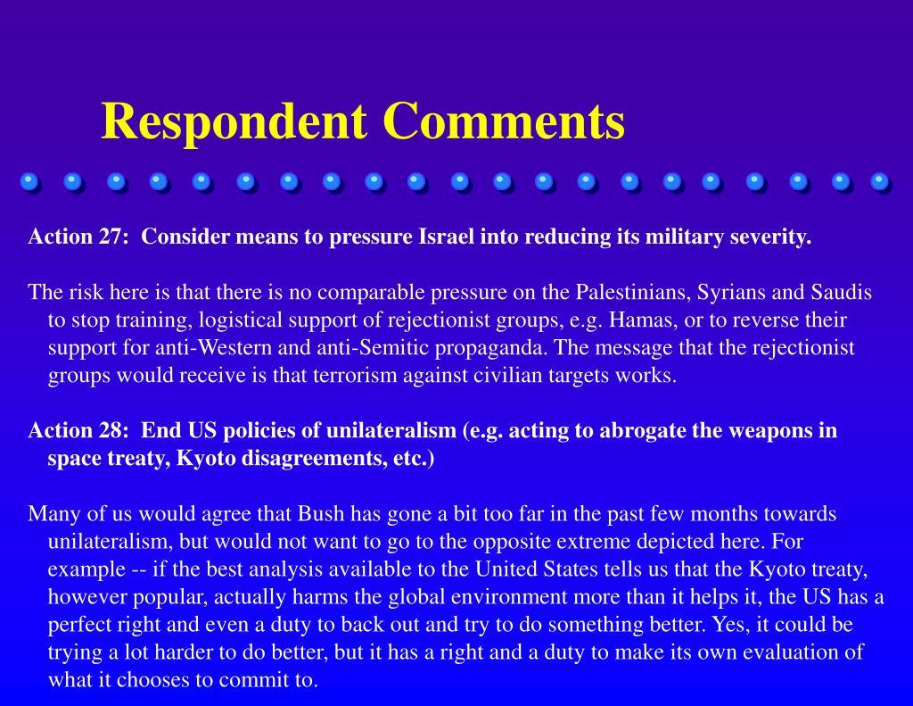 Respondent Comments