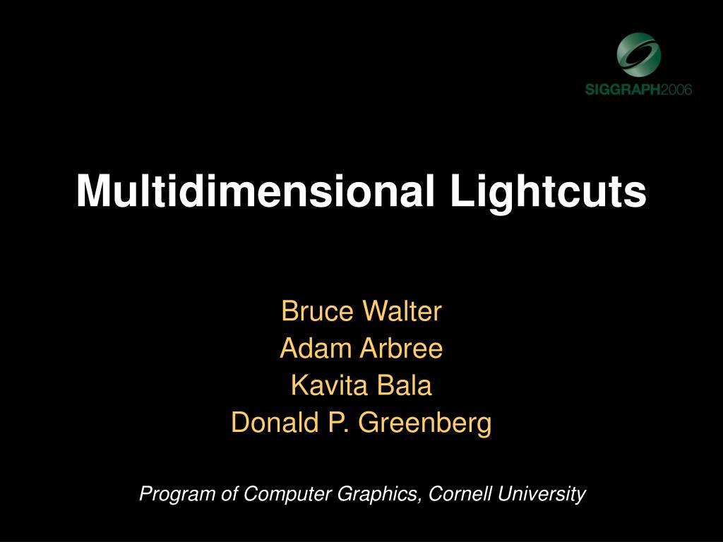 multidimensional lightcuts l.