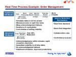 real time process example order management
