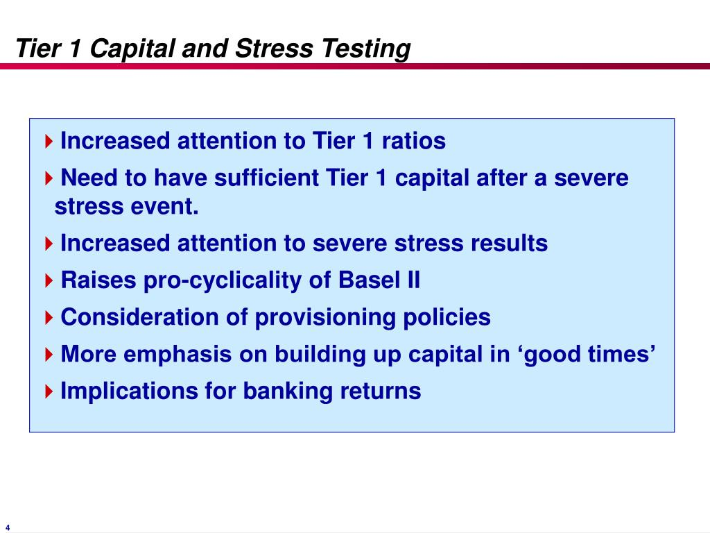 Tier 1 Capital and Stress Testing
