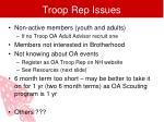 troop rep issues