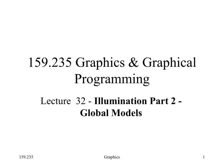 159 235 graphics graphical programming