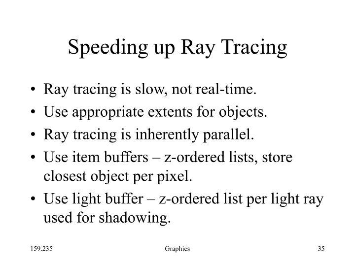 Speeding up Ray Tracing