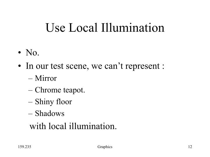 Use Local Illumination