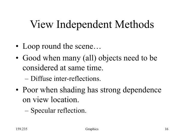 View Independent Methods