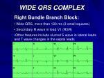 wide qrs complex