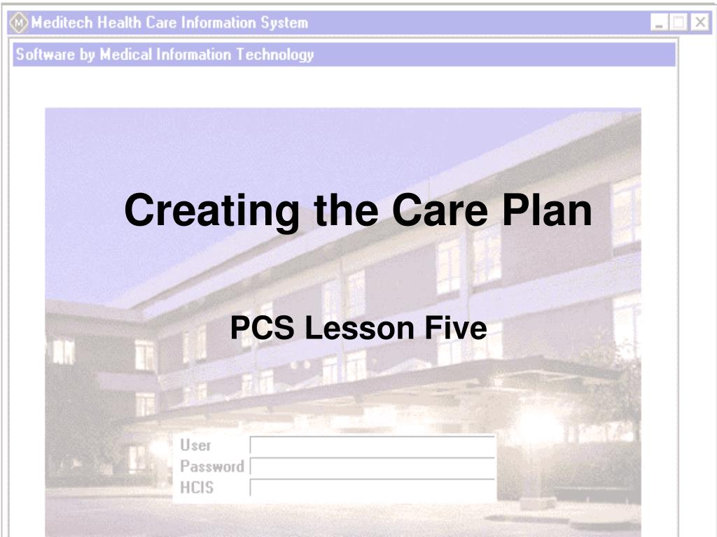 creating the care plan l.