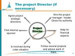 the project director if necessary