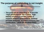 the purpose of computing is not insight