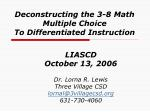 deconstructing the 3 8 math multiple choice to differentiated instruction