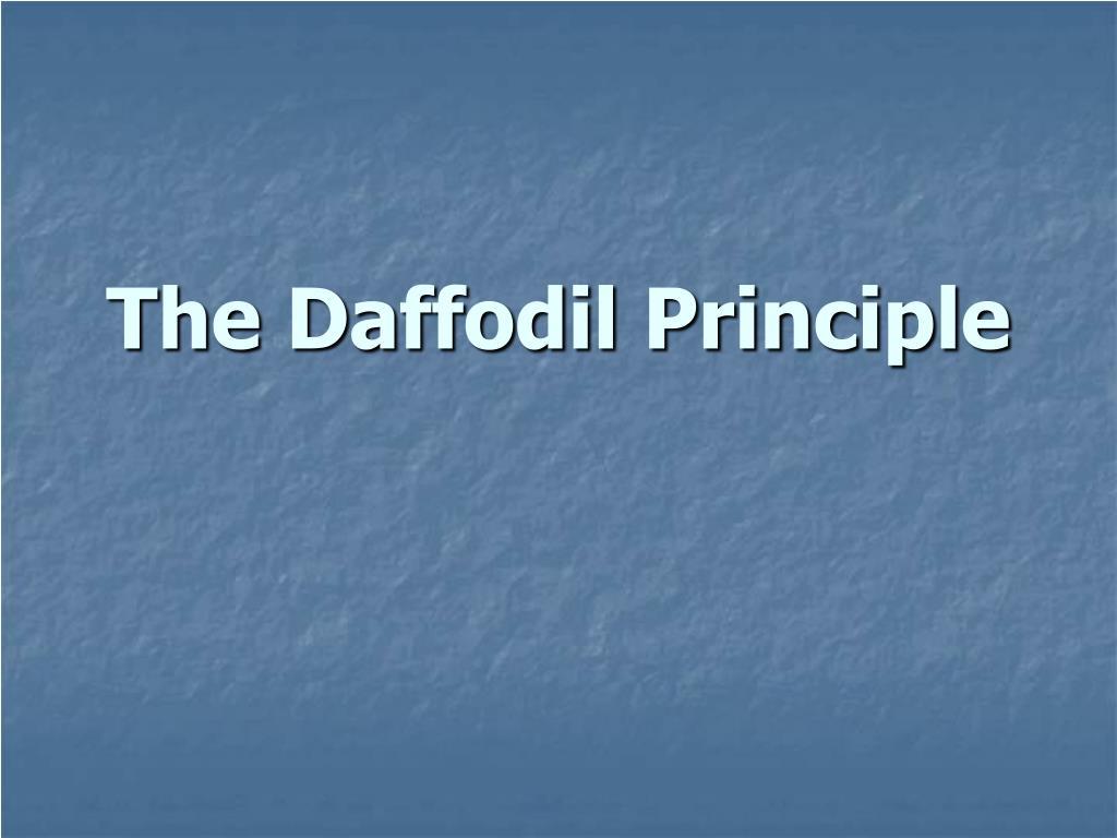 the daffodil principle l.