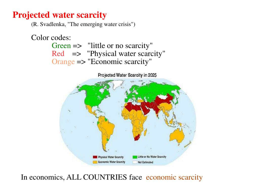 Projected water scarcity