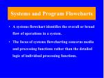 systems and program flowcharts