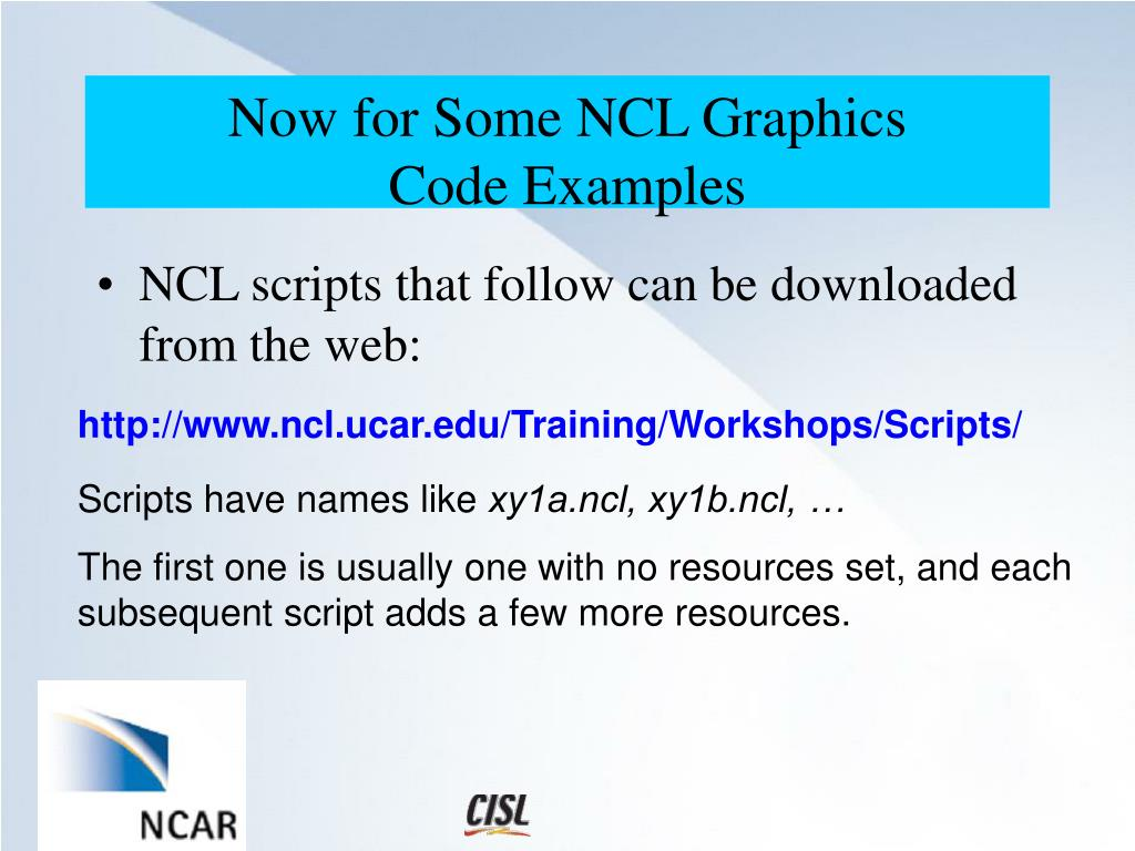 Ncl Examples