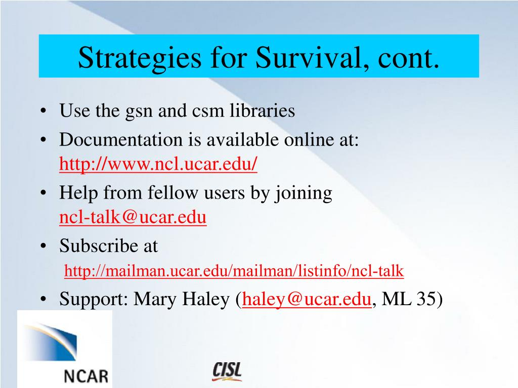 PPT - NCAR Command Language - NCL PowerPoint Presentation - ID:17581