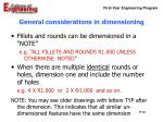 general considerations in dimensioning